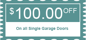 $100.00 OFF - On all Single Garage Doors