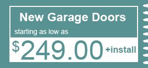 $249.00 - New Garage Doors